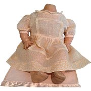 """1930s/40s Sheer Cotton Print Dress  for 17"""" Baby/Mama Doll"""
