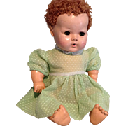Dear Green Dotted Swiss Day Dress for DyDee and Tiny Tears