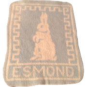 Fine Esmond Blue Bunny Blanket for DyDee