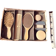 Early 20c. German Complete Vanity Set for Your Doll