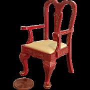 Vintage Artist Made Miniature Chinoiserie Chair