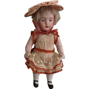 "5"" SWC German All Bisque Doll"