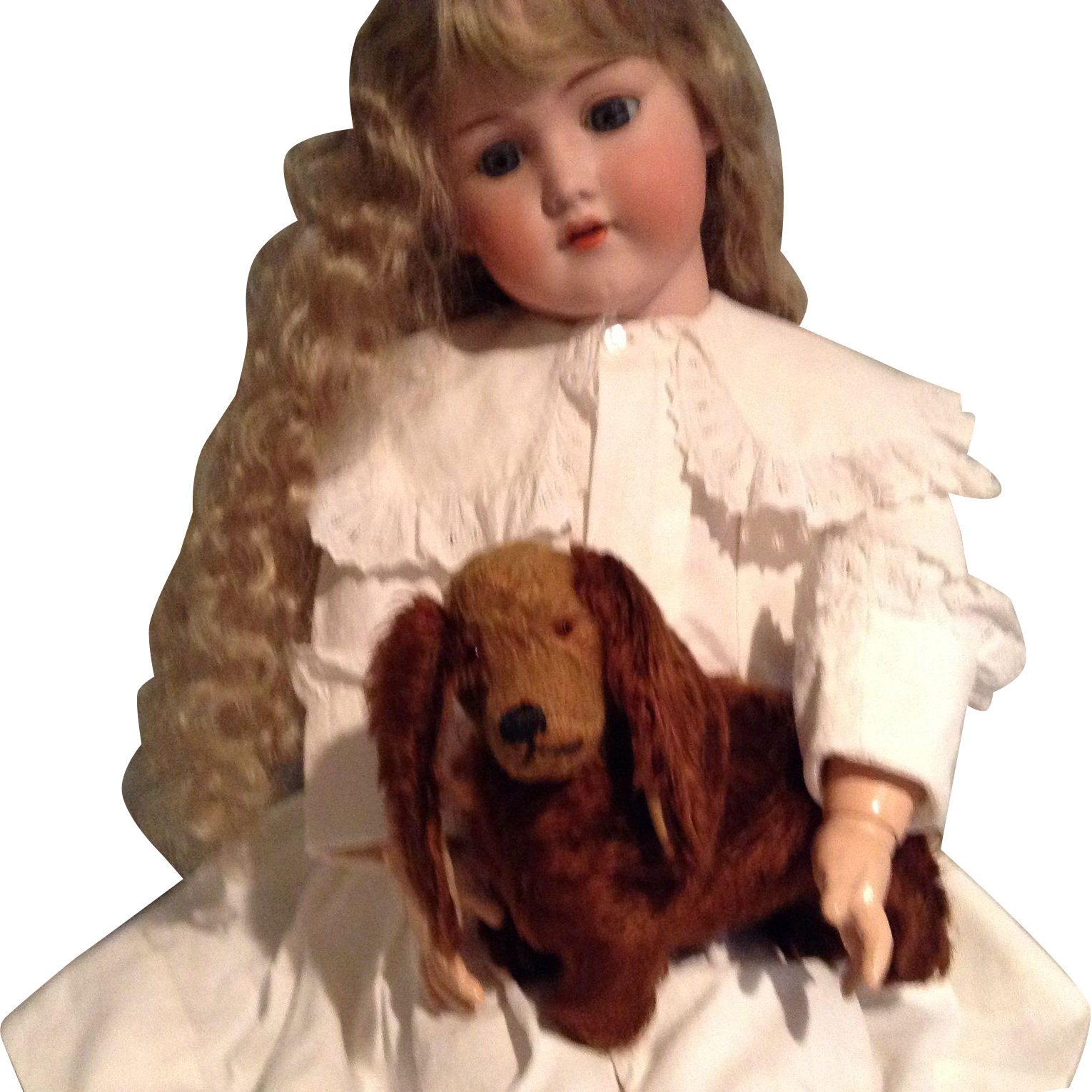 Charming Mohair Dog for Your Doll's Pet