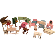 Large Assortment of Tootsie Toy Doll House Furniture