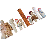 8 All Bisque Dolls-Mostly Japanese, Little Red Riding Hood