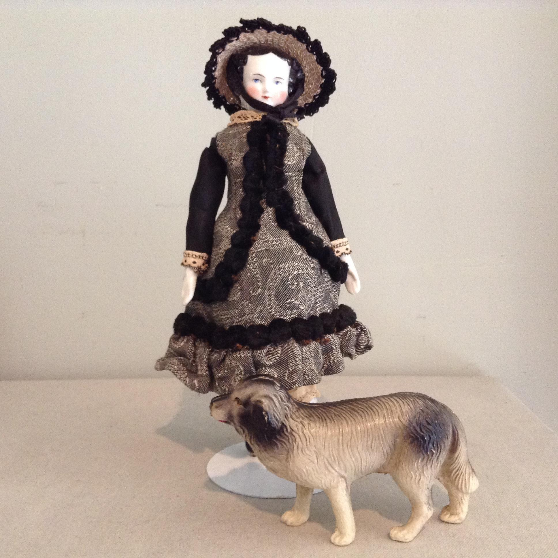Celluloid Dog in Fine Condition to Go With You Doll