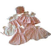 Assortment of Tiny Tears Pink and White Clothes