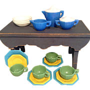 Complete Akro Agate Child/Doll Teaset