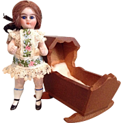 "Wee 3-1/2"" Kling Jointed All Bisque Doll"