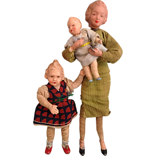 Three Caco Doll House Dolls