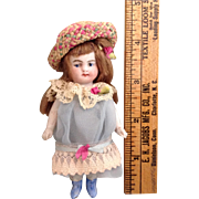 "4"" German All Bisque Jointed Doll"