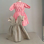 Two c.1900 Hand Sewn Doll Dresses