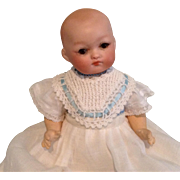 """Dear 8-1/2"""" German Baby Doll with Lovely Big Brown Eyes"""
