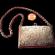 Art Nouveau Sterling Carnet de Bal or Aide de Memoire
