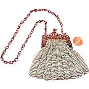 C.1900 Beaded Purse for the Medium to Large Doll
