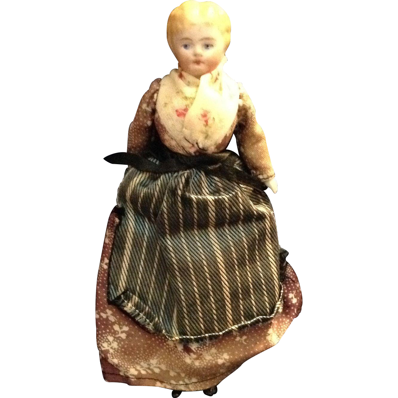 """5-1/2"""" Blond Chinahead Doll House Mother/Housekeeper"""