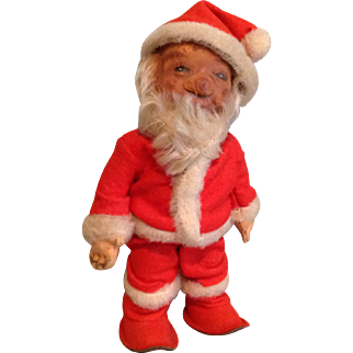 "Rare Smaller Steiff Santa in 8"" Size-1950s"