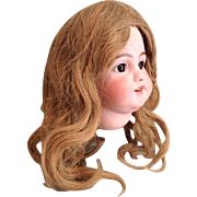 """Early 20c. Large 13""""-14"""" Human Hair Wig"""