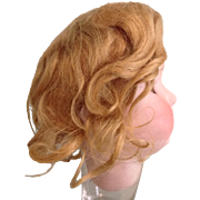 Early 20c. Golden Blond Mohair Doll Wig-Size 11""