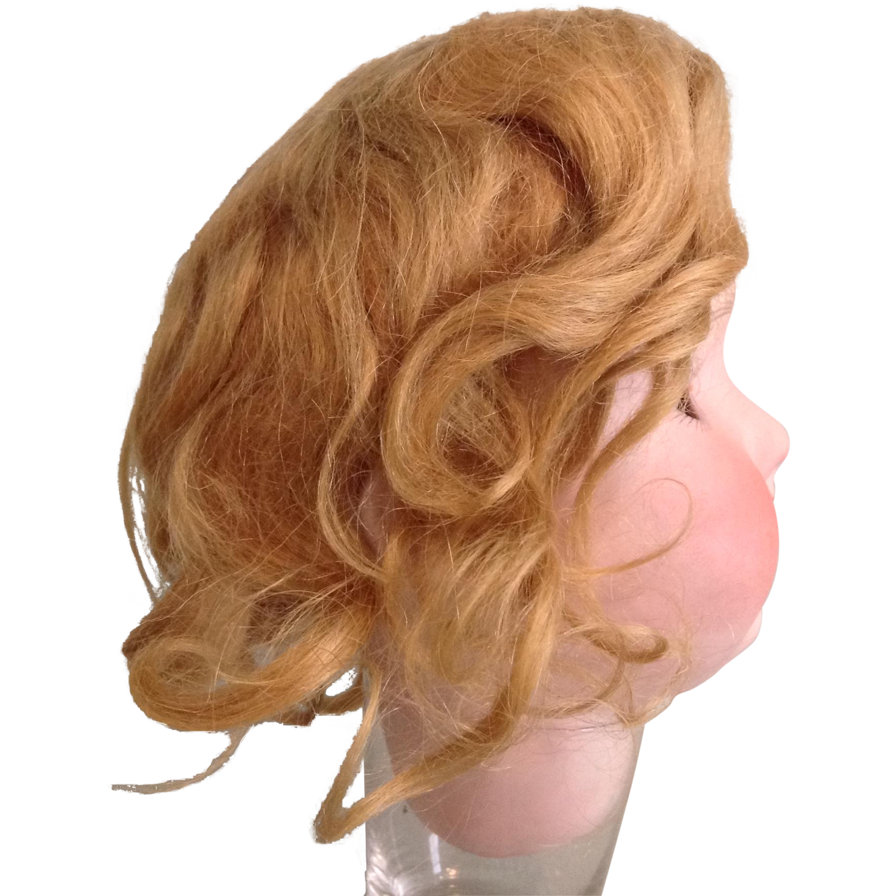 """Early 20c. Golden Blond Mohair Doll Wig-Size 11"""""""