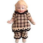 "3-1/2"" German All Bisque Doll"