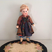 "8"" German Regionally Dressed Cabinet Size Doll"