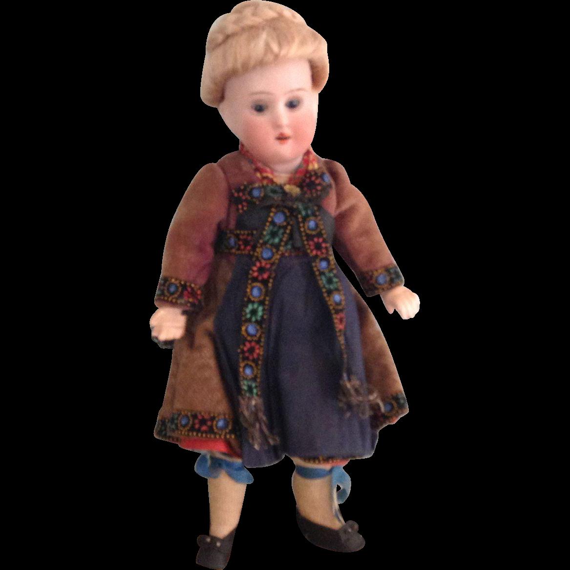 "8"" German Regionally Dressed Cabinet Size Doll"
