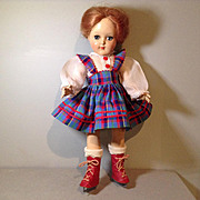 C.1950 P91 Ideal Toni in Orig. Dress and Skates