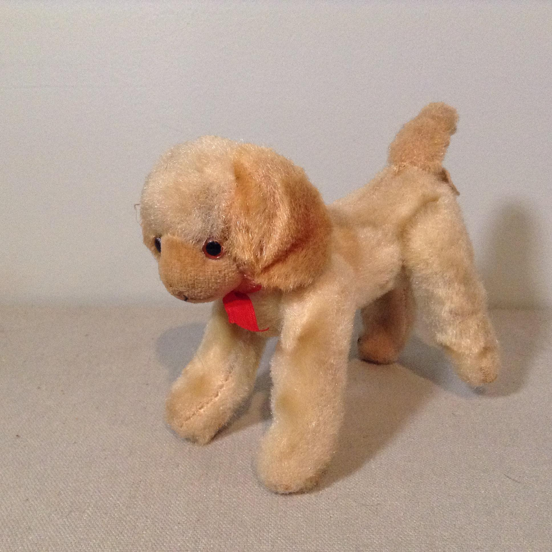 Wee Mohair Jointed Pet Dog for your Doll