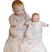 Two Bye-Lo Babies with Original Gowns