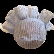 Blue Dimity Baby Doll Bonnet