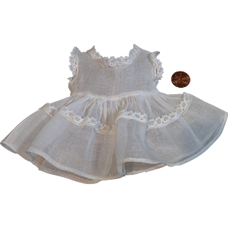 Petite Organdy and Lace Summer Dress for Baby Doll