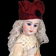 C. 1910 Burgundy Silk Doll Hat