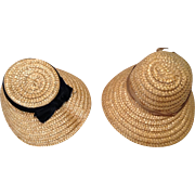 Two 1950s Madame Alex Type Straw Hats