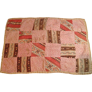 Late 19c. Doll Quilt-Great Fabrics!