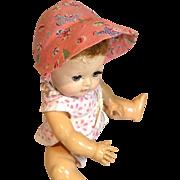 Sweet Pink Toy Print Baby Doll Bonnet