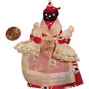 Folk Art AA Nipple Doll with 2 Baby Dolls