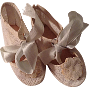 Early 20c. German Doll Shoes