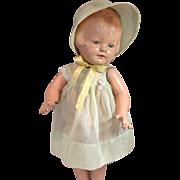 "Patsy Type Organdy Dress and Bonnet-16"" Size"