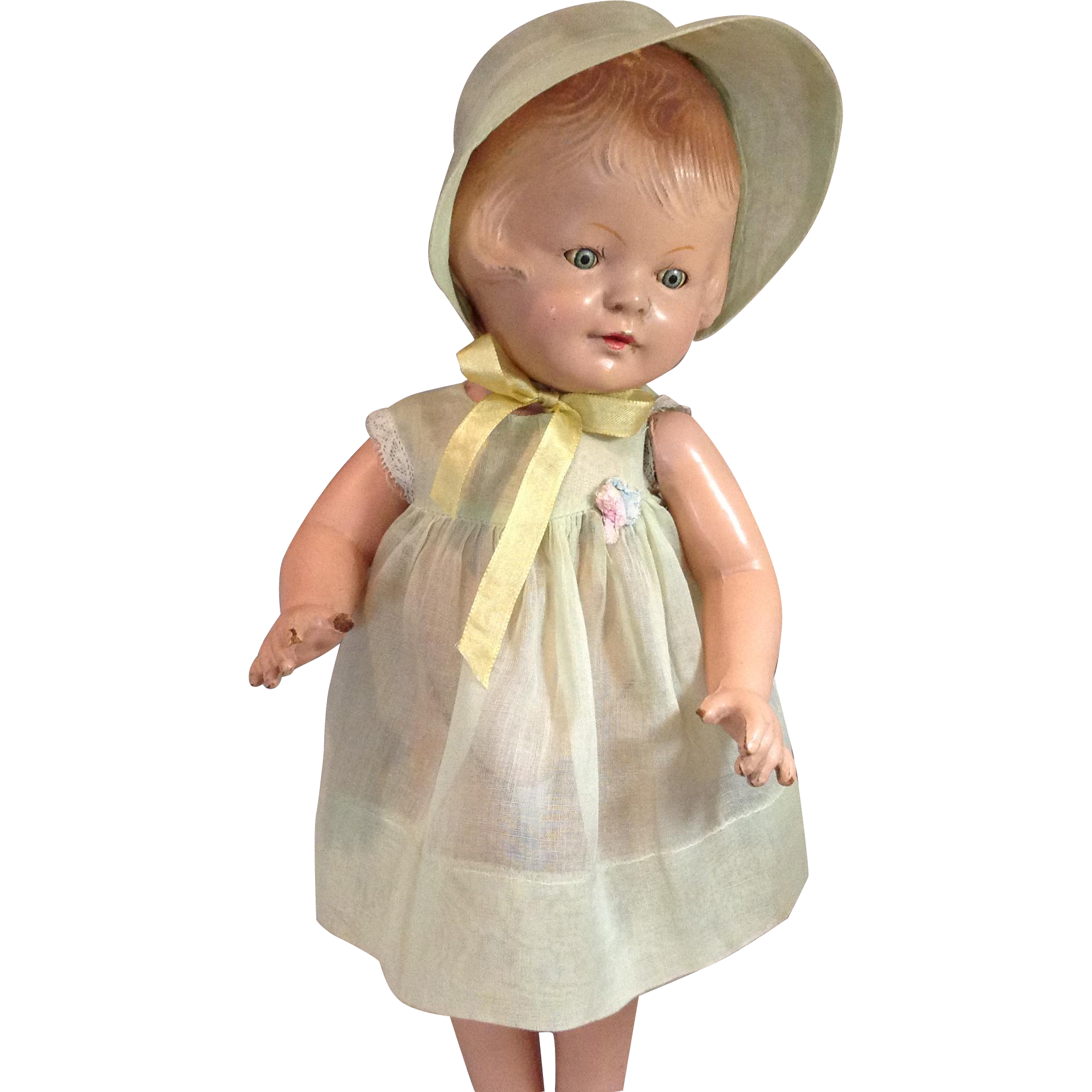 "Patsy Type Organdy Dress and Bonnet-16"" Size"