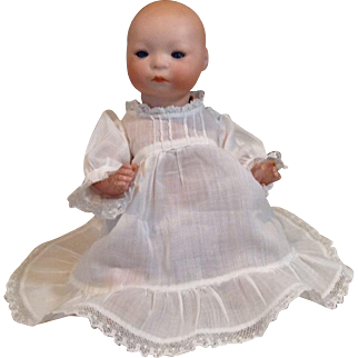 Early 1920s Louis Amberg & Son Wee Newborn Baby Doll