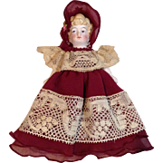 All Bisque/Mignonette Gown and Bonnet