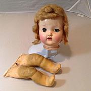 1940s Early Hard Plastic Head and Magic Skin Legs
