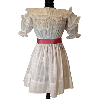 """Beautiful Antique Doll Dress for 24"""" German/French Doll"""