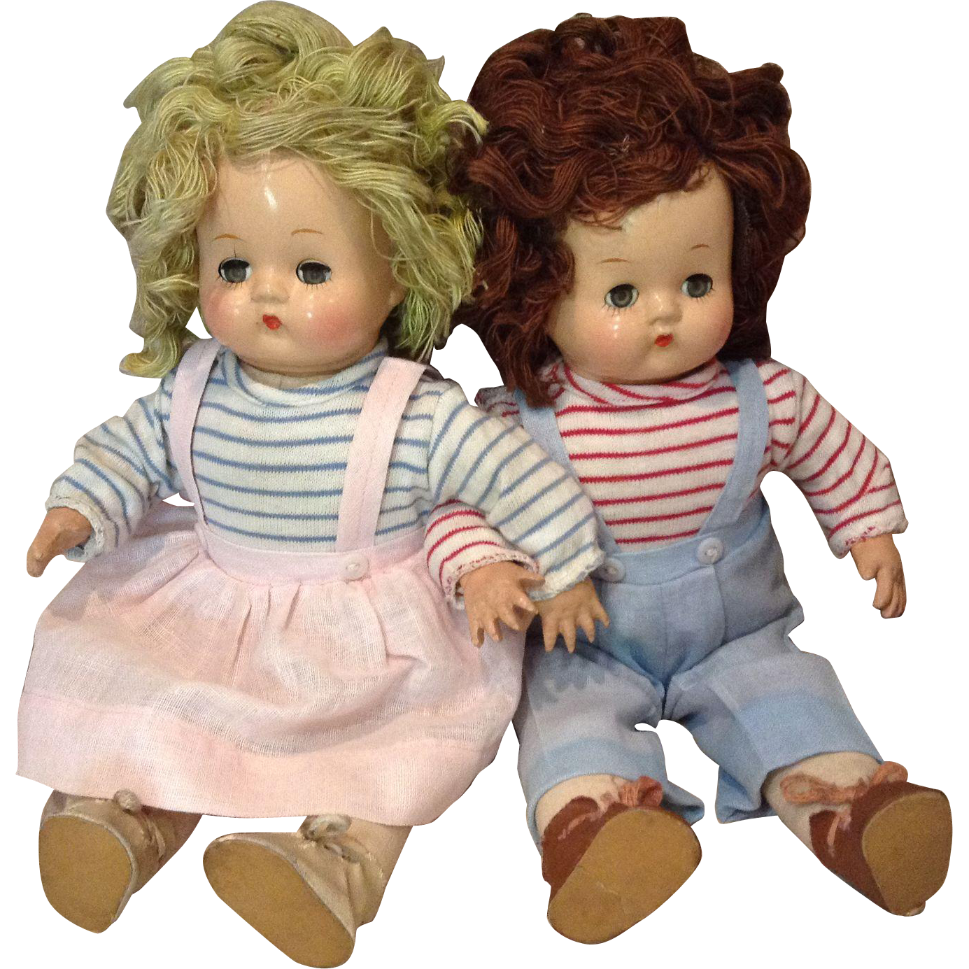 Eugenia Brother and Sister Pair-All Original 1940s