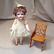"Early 20c. Heubach 250 Petite 8"" Flapper Body Doll"