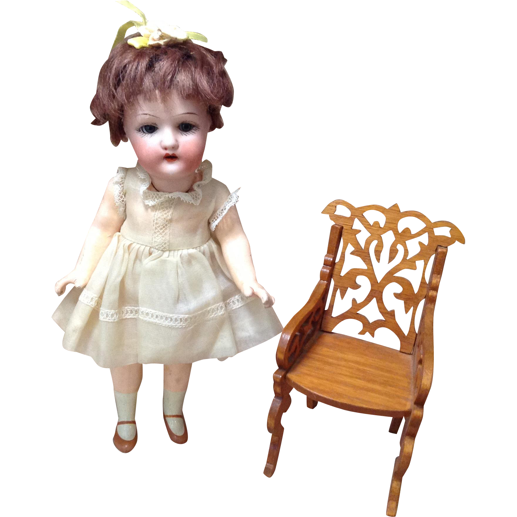 "Early 20c. Heubach 250 Petite 8"" Flapper Body Doll"