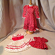 Three Dot Dresses for Dolls