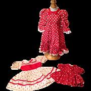 Three Dot Dresses for Dolls