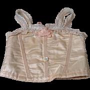 Wonderful Antique Silk French Doll Corset for Jumeau/Bru
